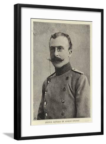 Prince Edward of Anhalt-Dessau--Framed Art Print