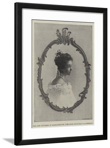 The New Duchess of Marlborough--Framed Art Print