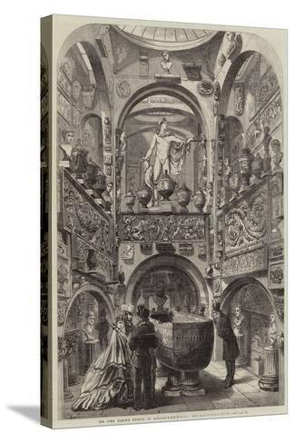 Sir John Soane's Museum in Lincoln'S-Inn-Fields, the Sarcophagus-Room--Stretched Canvas Print