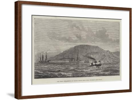 The First Detachment of Native Troops from India Entering Suez Roads--Framed Art Print
