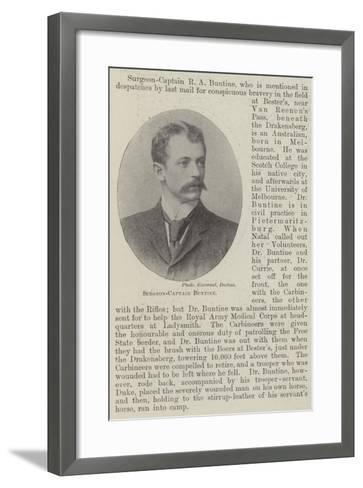Surgeon-Captain Buntine--Framed Art Print