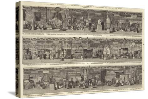 Grand Panorama of the Great Exhibition, North-East Portion of the Nave--Stretched Canvas Print