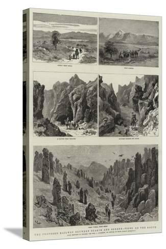 The Proposed Railway Between Suakim and Berber, Views on the Route--Stretched Canvas Print