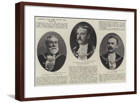 London's New Lord Mayor and Sheriffs--Framed Art Print