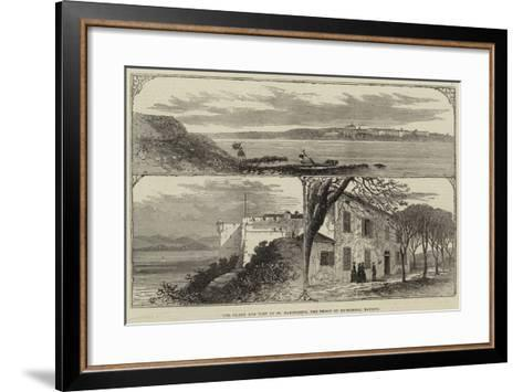 The Island and Fort of St Marguerite, the Prison of Ex-Marshal Bazaine--Framed Art Print