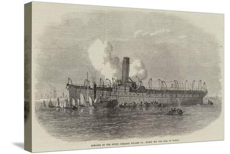Remains of the Dutch Steamer Willem III, Burnt Off the Isle of Wight--Stretched Canvas Print