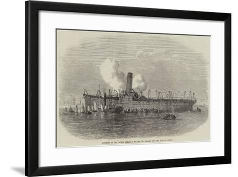 Remains of the Dutch Steamer Willem III, Burnt Off the Isle of Wight--Framed Art Print