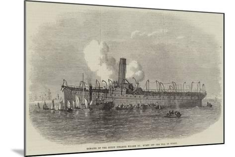 Remains of the Dutch Steamer Willem III, Burnt Off the Isle of Wight--Mounted Giclee Print