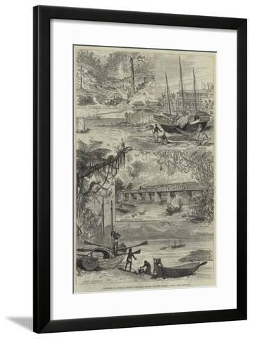 Sketches in Central America, Proposed Routes for the Isthmus Canal--Framed Art Print