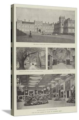Visit of the Prince of Wales to Welbeck Abbey--Stretched Canvas Print