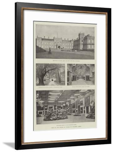 Visit of the Prince of Wales to Welbeck Abbey--Framed Art Print