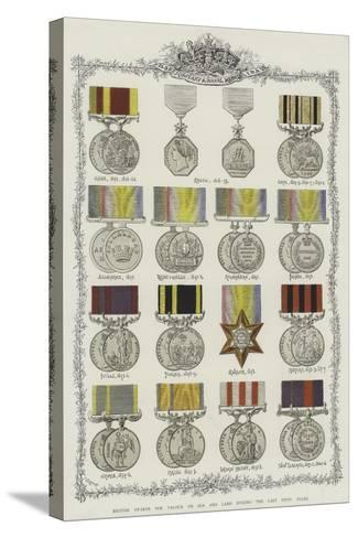 British Awards for Valour on Sea and Land During the Last Fifty Years--Stretched Canvas Print