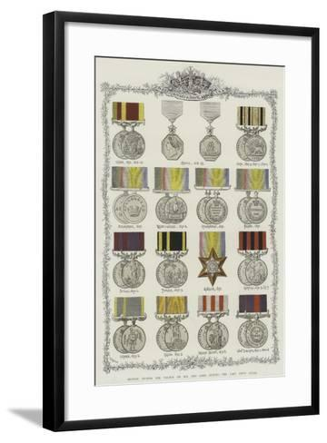 British Awards for Valour on Sea and Land During the Last Fifty Years--Framed Art Print