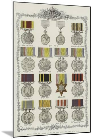 British Awards for Valour on Sea and Land During the Last Fifty Years--Mounted Giclee Print