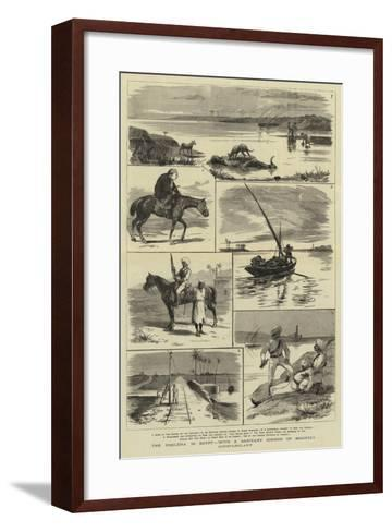 The Cholera in Egypt, with a Sanitary Cordon of Mounted Constabulary--Framed Art Print