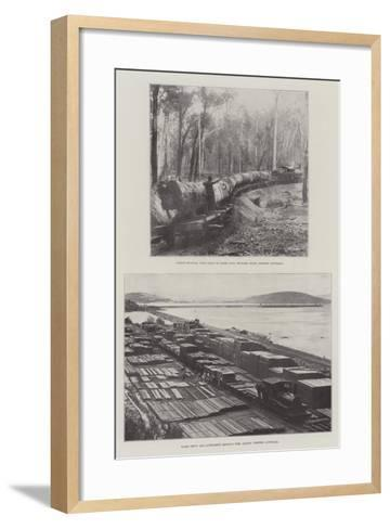 Logging in Australia--Framed Art Print