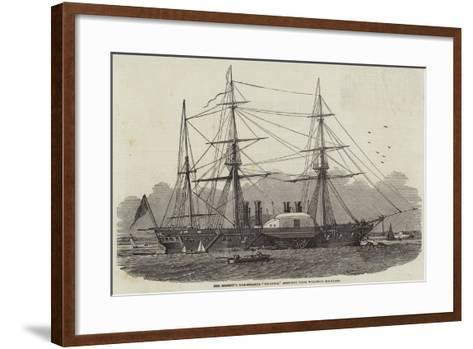 Her Majesty's War-Steamer Terrible, Sketched from Woolwich Dockyard--Framed Art Print