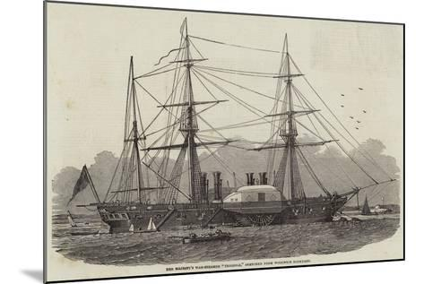 Her Majesty's War-Steamer Terrible, Sketched from Woolwich Dockyard--Mounted Giclee Print