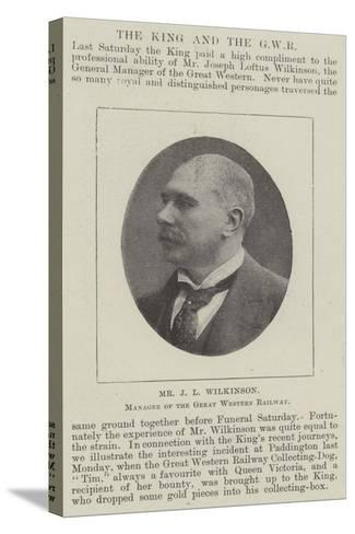 Mr J L Wilkinson, Manager of the Great Western Railway--Stretched Canvas Print