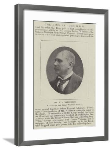 Mr J L Wilkinson, Manager of the Great Western Railway--Framed Art Print