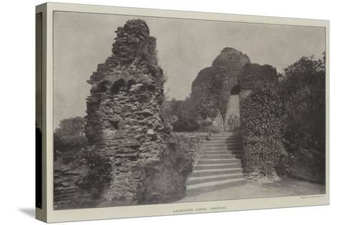 Launceston Castle, Cornwall--Stretched Canvas Print