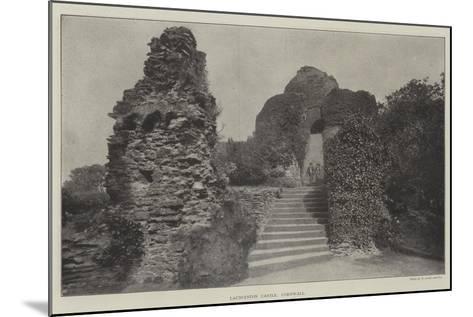 Launceston Castle, Cornwall--Mounted Giclee Print
