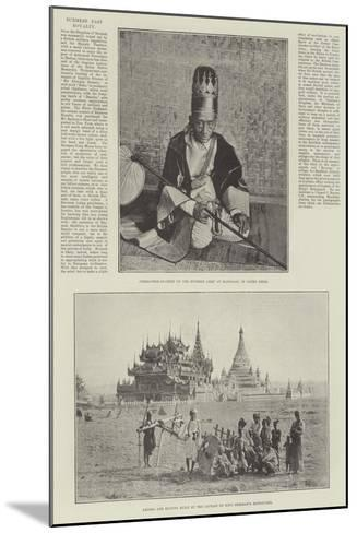 Burmese Past Royalty--Mounted Giclee Print