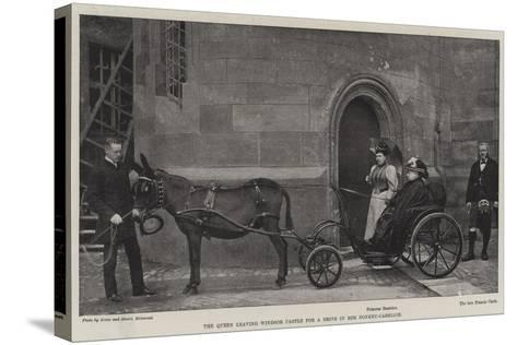 The Queen Leaving Windsor Castle for a Drive in Her Donkey-Carriage--Stretched Canvas Print
