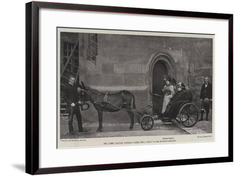 The Queen Leaving Windsor Castle for a Drive in Her Donkey-Carriage--Framed Art Print
