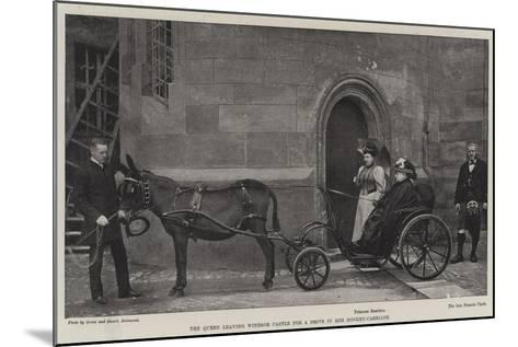 The Queen Leaving Windsor Castle for a Drive in Her Donkey-Carriage--Mounted Giclee Print