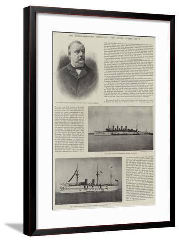 The Anglo-American Difficulty, the United States Navy--Framed Art Print