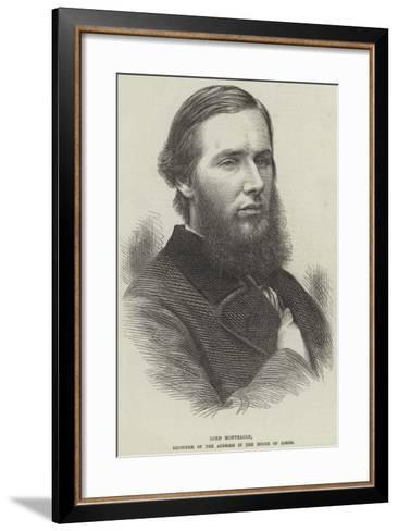 Lord Monteagle, Seconder of the Address in the House of Lords--Framed Art Print