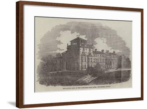 New South Wing of the Oatlands Park Hotel, Weybridge, Surrey--Framed Art Print