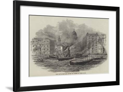 Civil War on the Thames, Between the Watermen and City Authorities--Framed Art Print