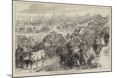 Turkish Refugees from the District of Tirnova Coming into Shumla--Mounted Giclee Print