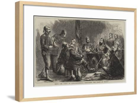 With the Turks at Constantinople, Discussing the Terms of Peace--Framed Art Print