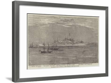 The Temple Fort of Dwarka, at the Entrance of the Gulf of Cutch--Framed Art Print