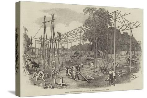 Great Exhibition of 1851, Progress of the Building in Hyde Park--Stretched Canvas Print