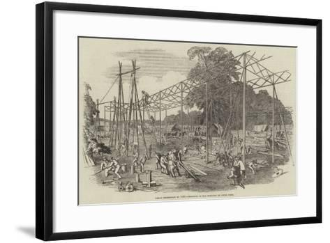 Great Exhibition of 1851, Progress of the Building in Hyde Park--Framed Art Print