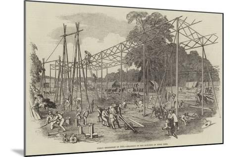Great Exhibition of 1851, Progress of the Building in Hyde Park--Mounted Giclee Print