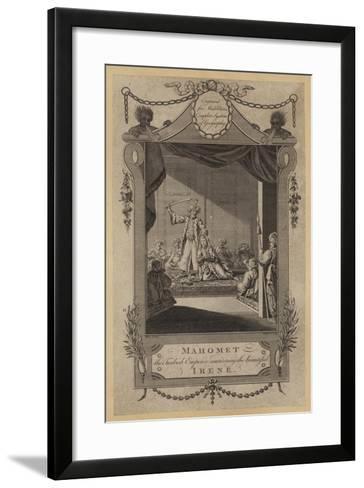 Mahomet, the Turkish Emperor Murdering the Beautiful Irene--Framed Art Print