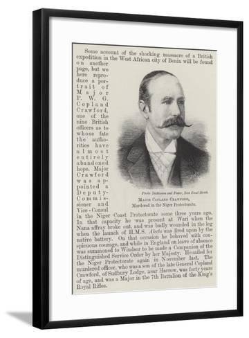 Major Copland Crawford, Murdered in the Niger Protectorate--Framed Art Print