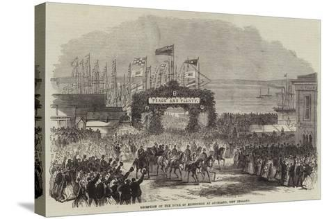Reception of the Duke of Edinburgh at Auckland, New Zealand--Stretched Canvas Print