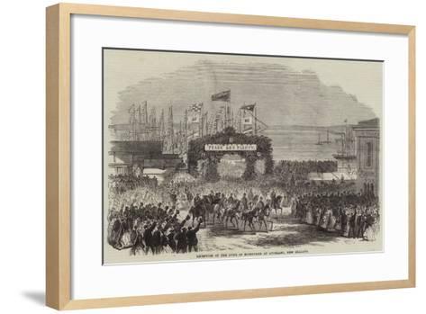 Reception of the Duke of Edinburgh at Auckland, New Zealand--Framed Art Print