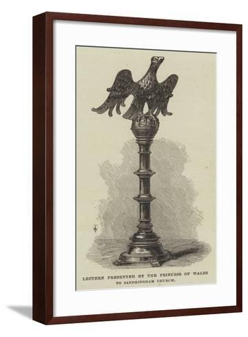 Lectern Presented by the Princess of Wales to Sandringham Church--Framed Art Print