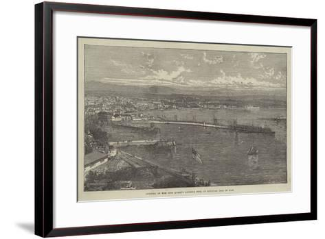 Opening of the New Queen's Landing Pier at Douglas, Isle of Man--Framed Art Print
