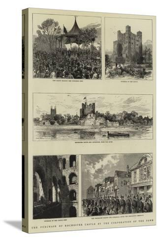The Purchase of Rochester Castle by the Corporation of the Town--Stretched Canvas Print