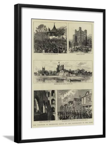 The Purchase of Rochester Castle by the Corporation of the Town--Framed Art Print