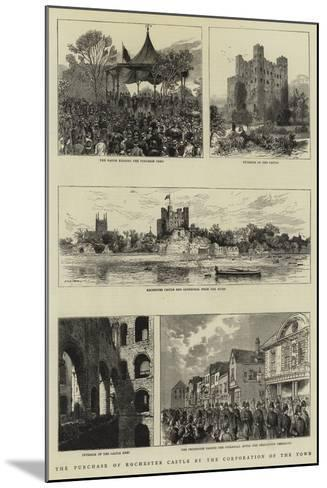 The Purchase of Rochester Castle by the Corporation of the Town--Mounted Giclee Print