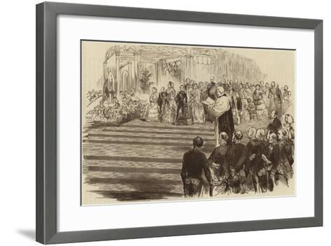 Opening of the Crystal Palace, the Archbishop's Prayer, 1854--Framed Art Print